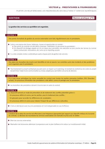 Guide d'audit de la gouvernance du Système d'Information de l'entreprise numérique - 2ème édition page 83