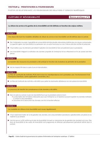 Guide d'audit de la gouvernance du Système d'Information de l'entreprise numérique - 2ème édition page 84