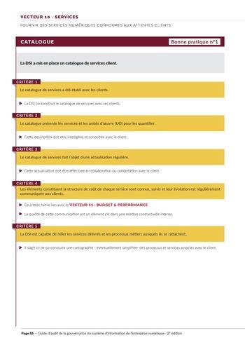 Guide d'audit de la gouvernance du Système d'Information de l'entreprise numérique - 2ème édition page 88