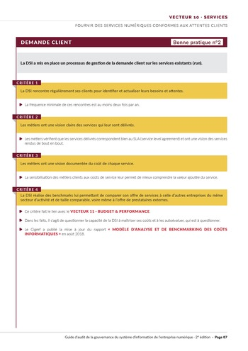 Guide d'audit de la gouvernance du Système d'Information de l'entreprise numérique - 2ème édition page 89