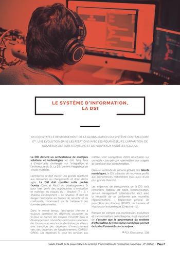 Guide d'audit de la gouvernance du Système d'Information de l'entreprise numérique - 2ème édition page 9
