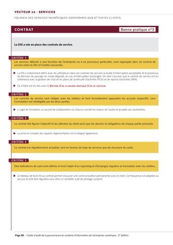 Guide d'audit de la gouvernance du Système d'Information de l'entreprise numérique - 2ème édition page 90