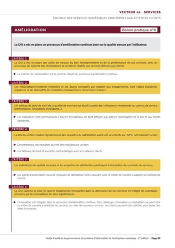 Guide d'audit de la gouvernance du Système d'Information de l'entreprise numérique - 2ème édition page 91
