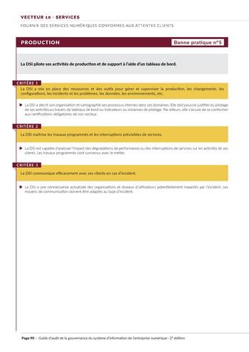 Guide d'audit de la gouvernance du Système d'Information de l'entreprise numérique - 2ème édition page 92