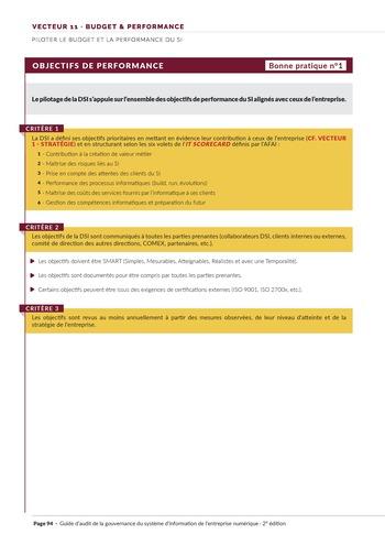 Guide d'audit de la gouvernance du Système d'Information de l'entreprise numérique - 2ème édition page 96