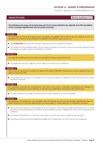 Guide d'audit de la gouvernance du Système d'Information de l'entreprise numérique - 2ème édition page 97