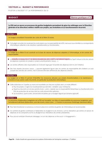 Guide d'audit de la gouvernance du Système d'Information de l'entreprise numérique - 2ème édition page 98