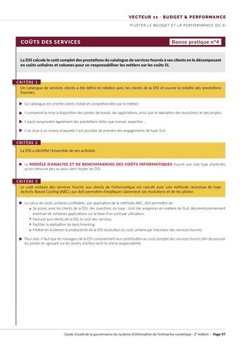 Guide d'audit de la gouvernance du Système d'Information de l'entreprise numérique - 2ème édition page 99