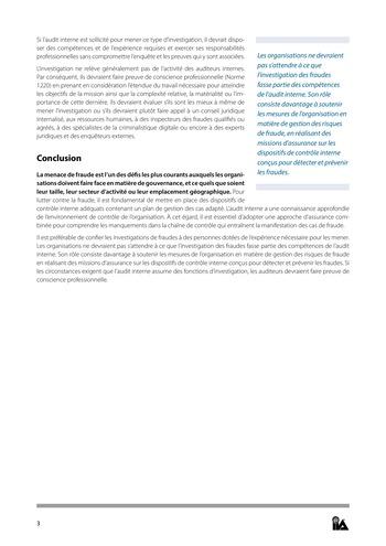 Prise de position - Fraude et audit interne / IIA page 3