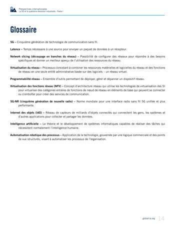Perspectives internationales - La 5G et la quatrième révolution industrielle (partie 1) page 14