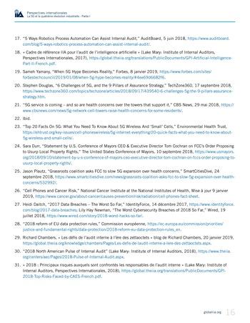 Perspectives internationales - La 5G et la quatrième révolution industrielle (partie 1) page 16