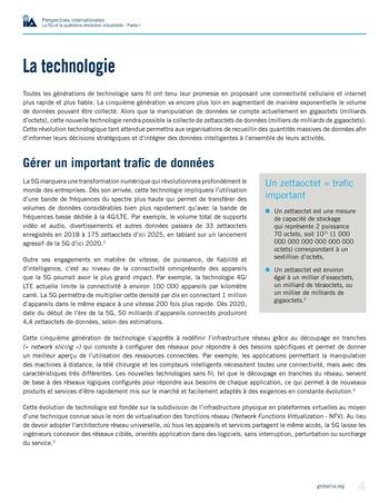 Perspectives internationales - La 5G et la quatrième révolution industrielle (partie 1) page 4