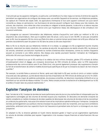 Perspectives internationales - La 5G et la quatrième révolution industrielle (partie 1) page 5