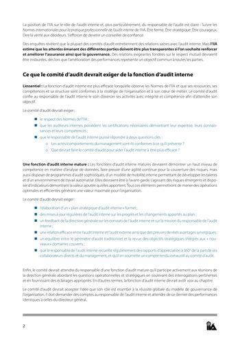 Prise de position - Relations de confiance / IIA page 2