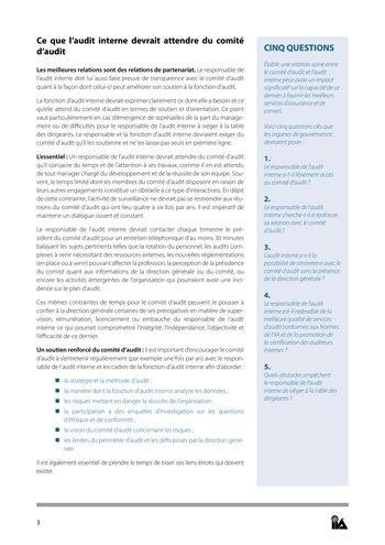 Prise de position - Relations de confiance / IIA page 3