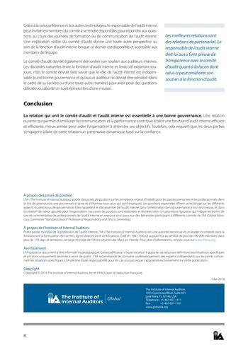 Prise de position - Relations de confiance / IIA page 4