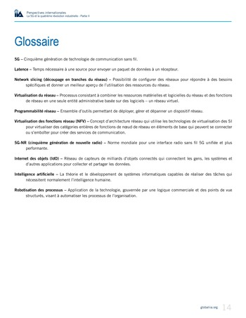 Perspectives internationales - La 5G et la 4ème révolution industrielle (partie 2) page 14