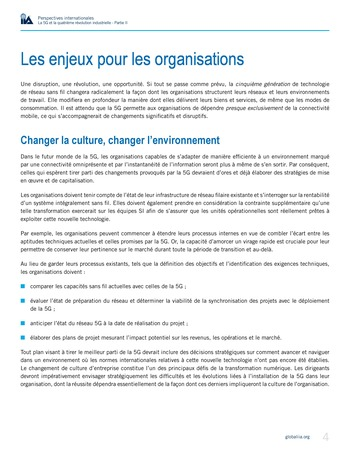 Perspectives internationales - La 5G et la 4ème révolution industrielle (partie 2) page 4