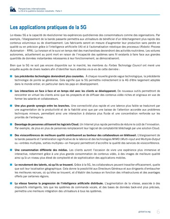 Perspectives internationales - La 5G et la 4ème révolution industrielle (partie 2) page 6