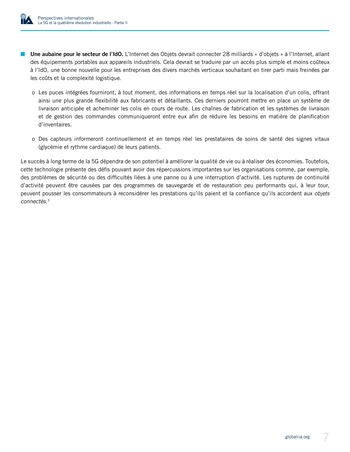 Perspectives internationales - La 5G et la 4ème révolution industrielle (partie 2) page 7