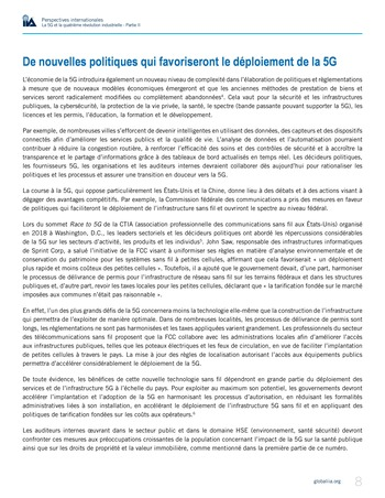 Perspectives internationales - La 5G et la 4ème révolution industrielle (partie 2) page 8
