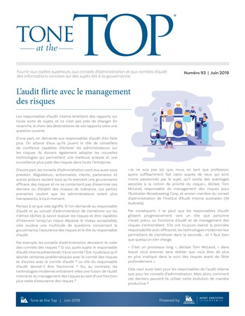 Tone at the top 93 - L'audit flirte avec le management des risques / juin 2019 page 1
