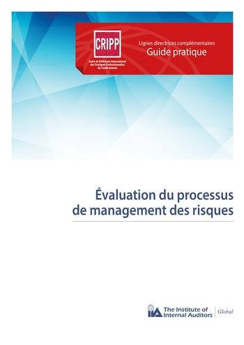 Evaluation du processus de management des risques page 1