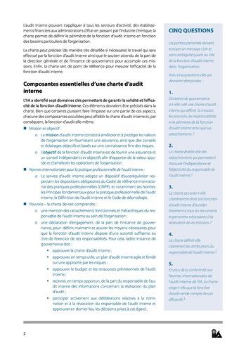 Prise de position - Charte d'Audit interne / IIA page 2