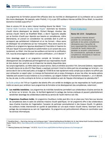 Perspectives internationales - Optimiser la gestion des talents dans un environnement d'audit en constante évolution page 11