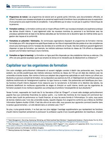 Perspectives internationales - Optimiser la gestion des talents dans un environnement d'audit en constante évolution page 12