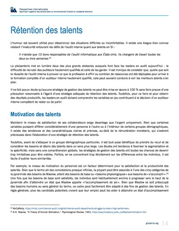 Perspectives internationales - Optimiser la gestion des talents dans un environnement d'audit en constante évolution page 14
