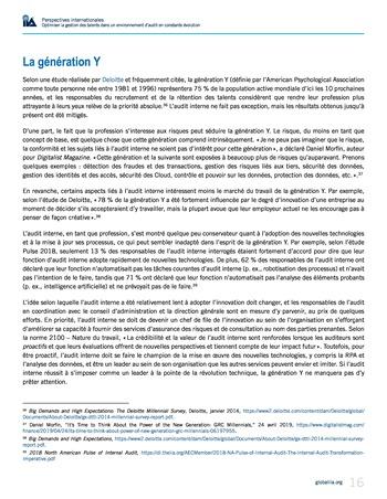 Perspectives internationales - Optimiser la gestion des talents dans un environnement d'audit en constante évolution page 16
