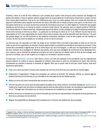 Perspectives internationales - Optimiser la gestion des talents dans un environnement d'audit en constante évolution page 18