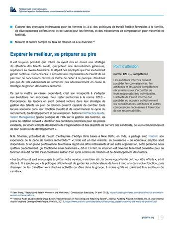 Perspectives internationales - Optimiser la gestion des talents dans un environnement d'audit en constante évolution page 19
