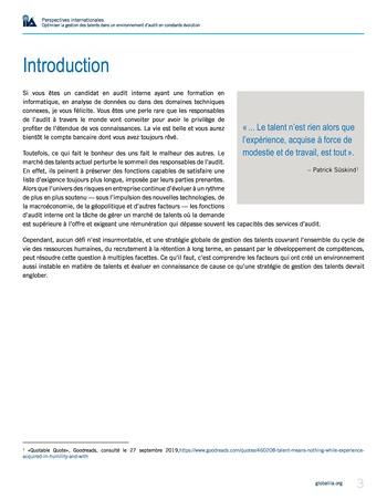 Perspectives internationales - Optimiser la gestion des talents dans un environnement d'audit en constante évolution page 3