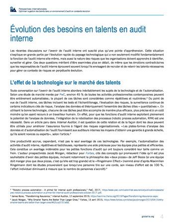 Perspectives internationales - Optimiser la gestion des talents dans un environnement d'audit en constante évolution page 4