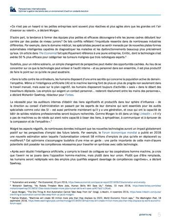 Perspectives internationales - Optimiser la gestion des talents dans un environnement d'audit en constante évolution page 5
