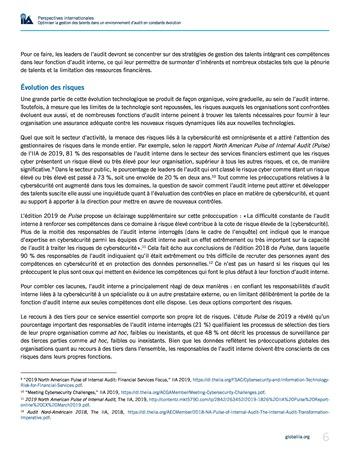Perspectives internationales - Optimiser la gestion des talents dans un environnement d'audit en constante évolution page 6