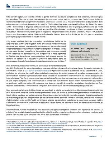 Perspectives internationales - Optimiser la gestion des talents dans un environnement d'audit en constante évolution page 7