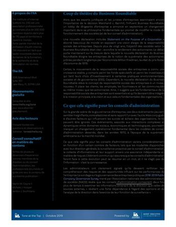 Tone at the top 95 - Réinventer le conseil d'administration page 2
