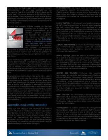 Tone at the top 95 - Réinventer le conseil d'administration page 3
