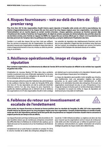 Risk in Focus 2020 - Board Briefing page 5