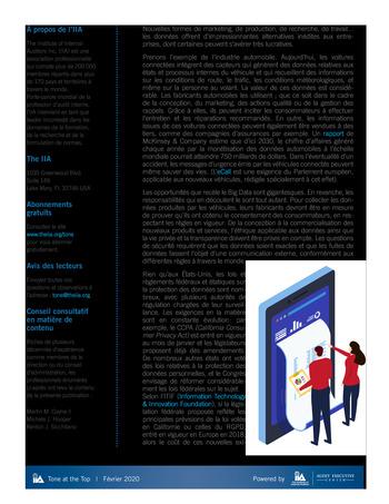 Tone at the top 97 - Gouvernance des données - février 2020 page 2
