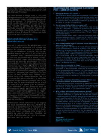 Tone at the top 97 - Gouvernance des données - février 2020 page 3