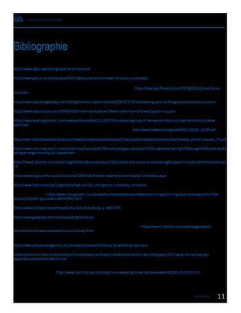 Perspectives internationales - Les avantages de la diversité et de l'inclusion pour les organisations page 13