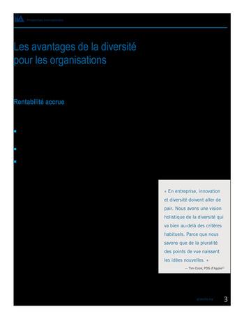 Perspectives internationales - Les avantages de la diversité et de l'inclusion pour les organisations page 5