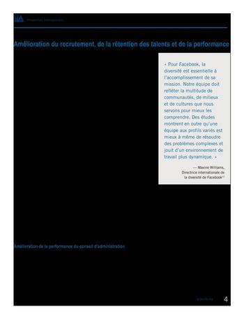 Perspectives internationales - Les avantages de la diversité et de l'inclusion pour les organisations page 6