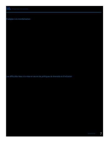 Perspectives internationales - Les avantages de la diversité et de l'inclusion pour les organisations page 9