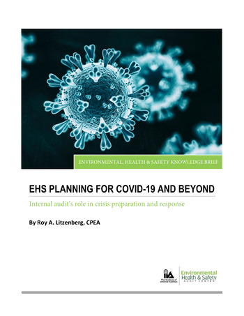 EHS Planning for COVID-19 and Beyond // IIA page 1