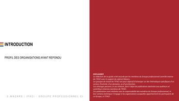 Benchmark Contrôle interne 2019 - IFACI page 3